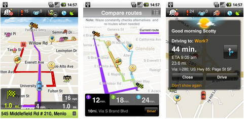 waze social gps live traffic android application. Black Bedroom Furniture Sets. Home Design Ideas