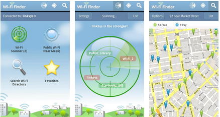 Wifi Finder Android Application