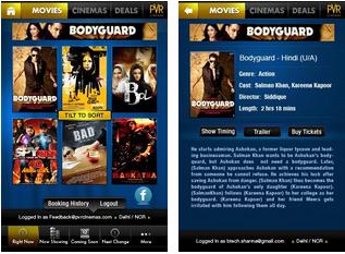 PVR Cinemas Android App